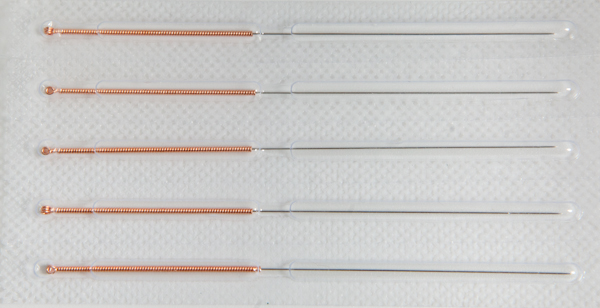 Corporal needles 0.3x40 mm (copper handle) (100 pcs)